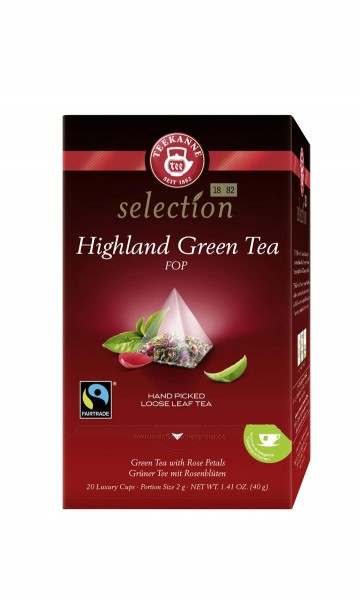 TEEKANNE Luxury Cup Highland Green Tea FOP 20er